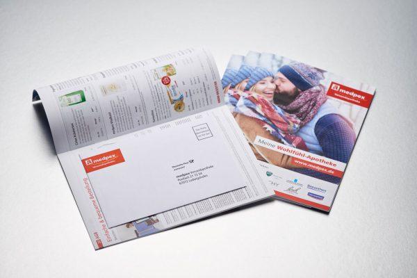Katalog mit Rückantwortkuvert