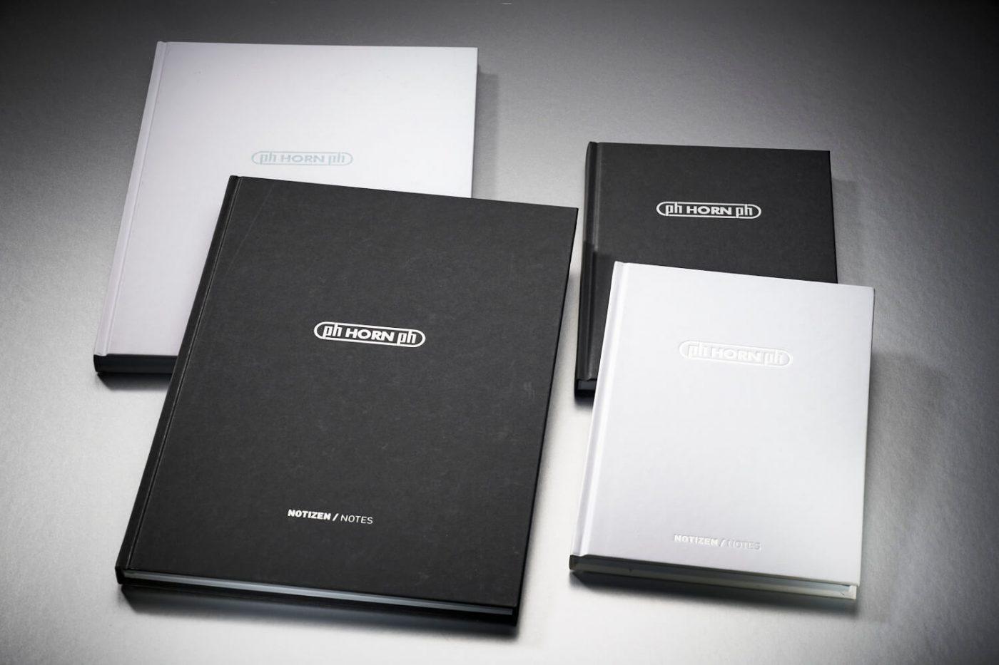 vier Workbooks aus Naturpapier