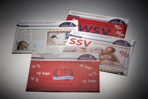 Zeitungsbeileger mit variabler Seitenzahl