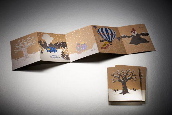 PMK Postkartenleporello mit Abreißperforation